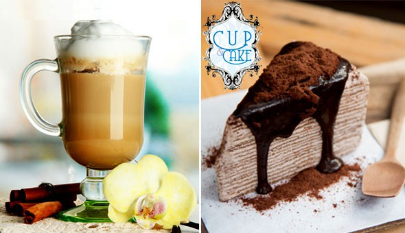 Eden on the Bay, Blouberg: Gourmet Cake Slices and Speciality Hot Drinks for 2 People at Cup & Cake!