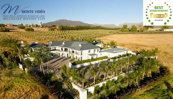Winelands Escape: A 1 Night Getaway for 2 People including Breakfast at only R699 at Monte Vidéo Guest House!