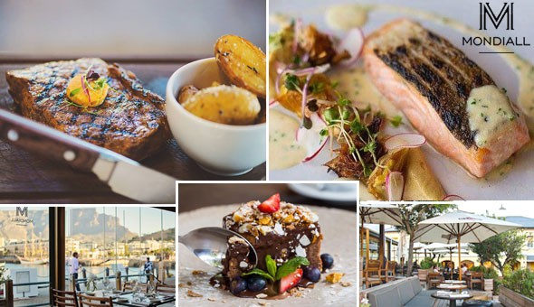 V&A Waterfront: An Exclusive 2-Course Dining Experience for 2 People at Mondiall Kitchen & Bar!