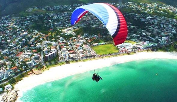 Signal Hill: A Tandem Paragliding Flight for 1 Person at only R899, brought to you by Para-Taxi!