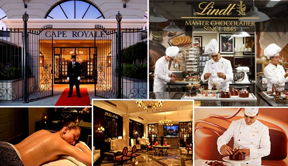 The Ultimate in Decadent Luxury! Be spoilt with an Exclusive Lindt Chocolate Tasting Experience for 2, Lindt Luxury Spoils and Lavish Couples Full Body Spa Massages!