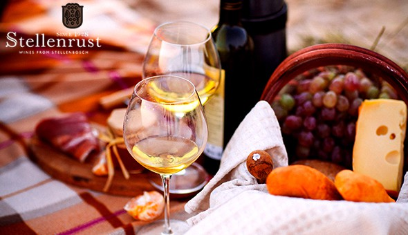 A Gourmet Picnic for 2 People, including a Bottle of Wine, Lindt Luxury & an Exclusive Wine Tasting Experience at Stellenrust Wine Estate!