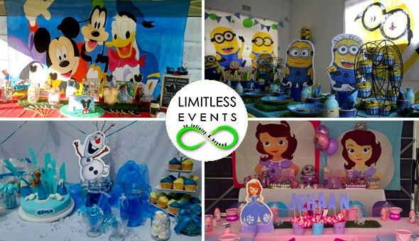 Treat your Kids & their Friends to a Magical Party! Over 50 Amazing Themes to Choose from; Princess Sofia, Frozen, Spiderman, Barney, Dora & Diego, Tinkerbell, Lego – and many more!