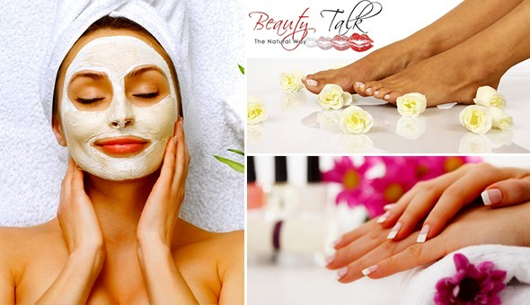 Deluxe Manicure, Deluxe Pedicure, Mediheel Treatment or a Choice of Facials at Beauty Talk!