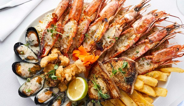 A Seafood Platter for 2 People at Sevruga Restaurant, V&A Waterfront!