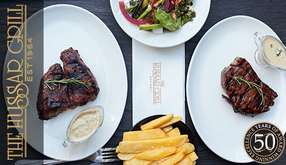 An Exclusive 2-Course Dining Experience for 2 People at The Hussar Grill, Franschhoek!
