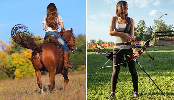 The Ultimate Fun Adventure for 2 People! Scenic Horseback Trail Experience, Archery Experience & Beverages for 2!