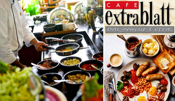 All You Can Eat! Saturday Breakfast Buffet or Sunday Brunch Buffet for 1 Person at Café Extrablatt, Green Point!