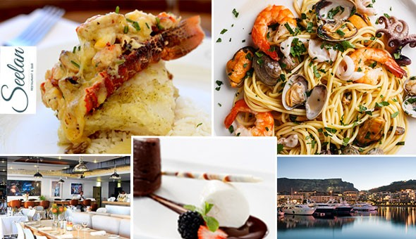 V&A Waterfront: An Exclusive 2-Course Gourmet Dining Experience for 2 People at Seelan Bistro! Choices Include: Seafood Platter, Seafood Linguine, Asian BBQ Beef Rib, 250g Sirloin Steak, Trio of Desserts & More!