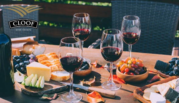 Cloof Wine Estate: Wine Tasting, Gourmet Cheeses, Cured Meats, Freshly Baked Breads, a Bottle of Wine & More for 4 People OR an Exclusive Wine & Toffee Pairing Experience!