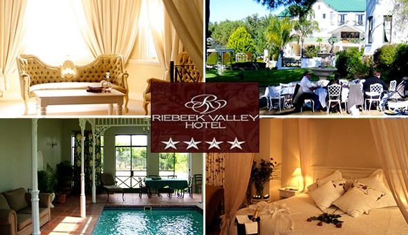 The 4-Star Riebeek Valley Hotel: Spoil her with a Romantic Getaway for 2 People, including Breakfast at only R699!