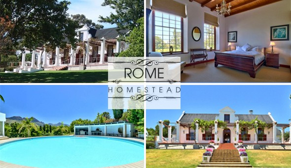 A Luxury Getaway for 2 People, including Breakfast at Rome Homestead Guest House!