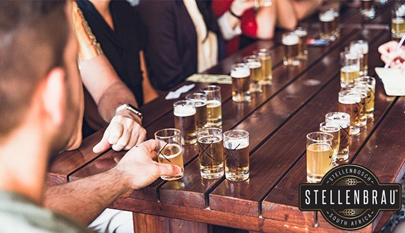 A Craft Beer Tasting Experience with a Brewery Tour and 1 Draught each for 2 People at Stellenbrau Brewery!