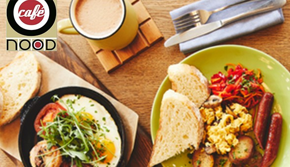 Café Nood, Claremont: Selection of Gourmet Breakfast for 2 People at only R79!