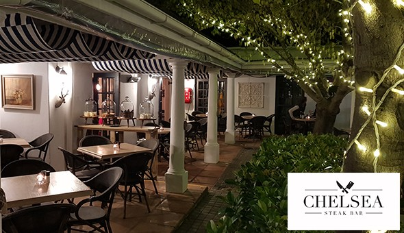 An Exclusive 3-Course Dining Experience at Chelsea Steak Bar! Dine on; 300g Rump or Sirloin Steaks with Fries or Roasted Vegetables, Homemade Gelato Desserts & More for 2 People!