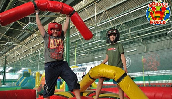 December Holidays at Bounce World! Bounce, Battle & Just Have Fun with Entrance Passes for 2 Kids!