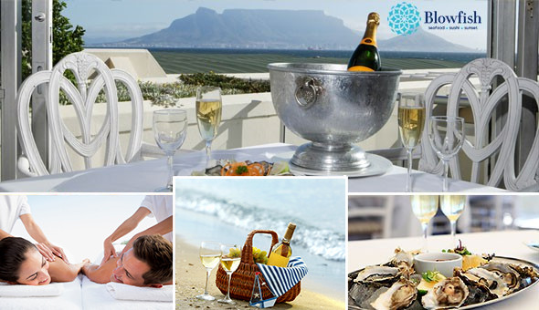 Blouberg: Couples Spa Luxury with Fresh Oysters & Brut Sparkling Wine or a Beach Picnic!