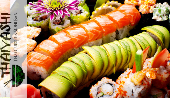 Up to 100 Pieces of Gourmet Sushi at Thaiyashi Thai Cuisine & Sushi Bar, Newlands!
