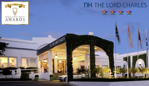 Award-Winning Luxury! Escape to the NH The Lord Charles Hotel in Somerset West for a Romantic Getaway for 2 People at only R999!