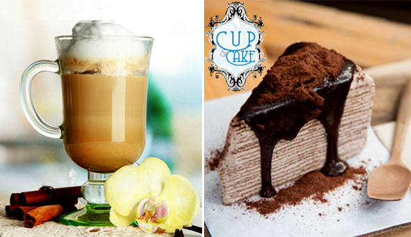Eden on the Bay, Blouberg: Gourmet Cake Slices and Specialty Hot Drinks for 2 People at Cup & Cake!