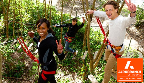 Entrance Passes for up to 4 People to Monkey Moves (Green Course) at Acrobranch Adventure Park, Constantia!