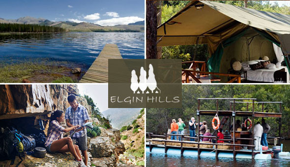 A 2 Night Getaway for 2 People in a Luxury Self-Catering Safari Tent at Elgin Hills, Grabouw!