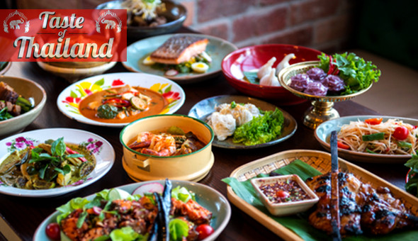 A 2-Course Thai Dining Experience for 2 People at Taste of Thailand! 25 Dishes to Choose From!