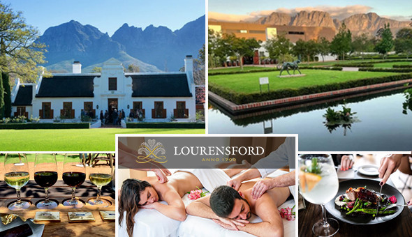 A Luxury Couples Experience at Lourensford Wine Estate. Includes: Luxury Couples Spa Treatments, an Exclusive Couples Belgian Chocolate Wine Pairing Experience, a Healing Earth Spa Gift Bag and a Restaurant Spend Voucher at The Millhouse Kitchen!