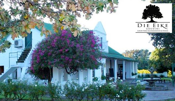A 2 Night Stay for 2 People at only R1099 at Die Eike Luxury Farm Accommodation!