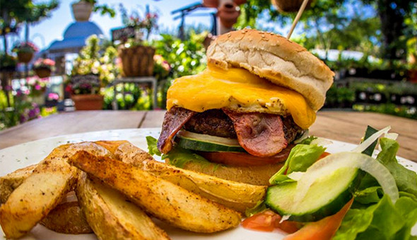 Gourmet Burgers with Potato Wedges for 2 People at McPherson's Restaurant on the Vlei! Choices: Bacon & Cheese Burger, Pepper Burger, McPherson's Deluxe Burger (Bacon, Cheese, Egg & Mushroom) and More!