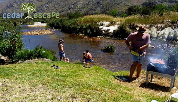 Citrusdal: A 2 Night Midweek DIY Camping Getaway for up to 8 People at Rivercamp, Cedar Escape!