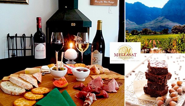 This Winter, Mellasat Vineyards invites you to enjoy a Cosy Fireplace, Vineyard Views, Wine, Cured Meats, Cheeses, Olive Tapenade, Freshly Baked Bread, Homemade Chocolate Brownies & More!