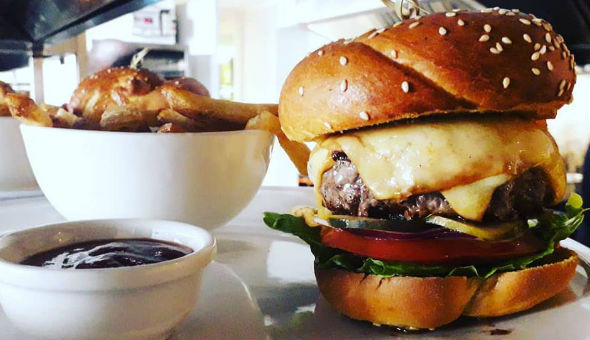 Gourmet Burgers & Drinks for 4 People at The Hot Skillet on Bree Street!