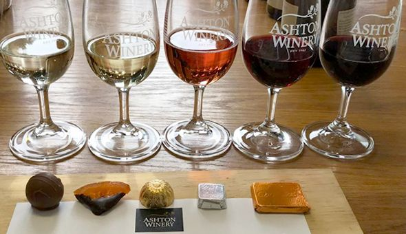 Belgian Chocolate & Wine Pairing Experience for 2 People at Ashton Winery!