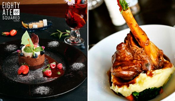 An Exclusive 2-Course Gourmet Dining Experience for 2 People at the 4-Star Hollow On The Square Hotel.