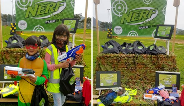 The Nerf War Action-Packed Party for 10 Kids! Includes: Nerf Guns & Ammo, Battlefield Obstacle Course & Activities, Team Gear, Nerf Theme Party Setup, Party Packs & More!