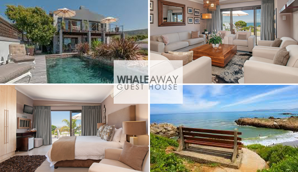 Hermanus: A 2 Night Stay for 2 People in an Ocean View Suite at Whale Away Guest House, including Champagne Breakfast.