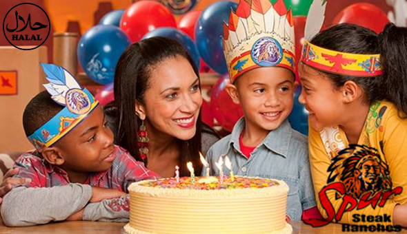 Spur Kids Take Away Party for 10 Kids at Rodeo Spur (Halaal)! Includes: Kids Meals, Fruit Juices, or Sodas, Ice Lollies, Spur Birthday Party Surprise Packs, Masks & Activity Sheets!