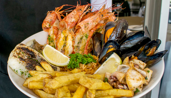 A 3-Course Dining Experience for 2 People at Gambas Seafood Bistro!