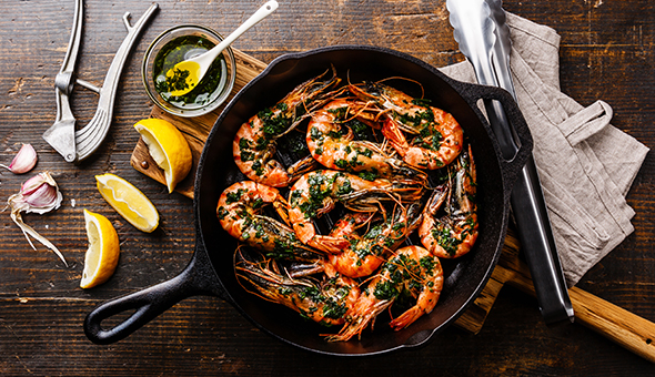 King Prawns, Beef Fillet, Seafood Pasta & More! A 2-Course Gourmet Dining Experience for 2 People at Foxy Brown Restaurant & Bar, Harfield Village!