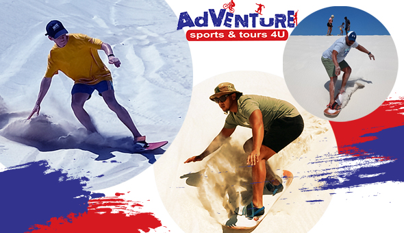 Ride the Dunes with Adventure Sports & Tours 4U! A Sand Boarding Adventure for up to 6 People!