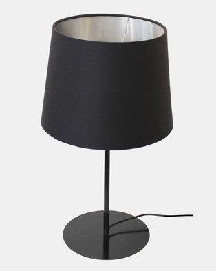 Fundi Light & Living Metal Upright Table Lamp Black
