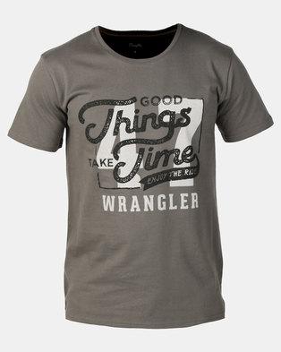 Wrangler Good Things T-Shirt Gunmetal