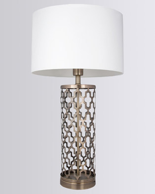 Illumina Sawyer Lamp Set White/Gold-tone