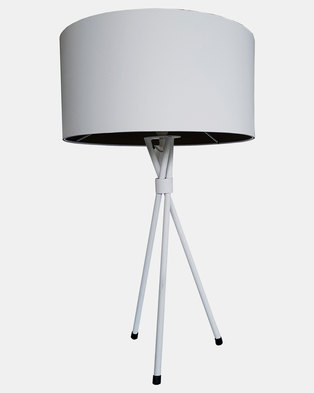 Fundi Light & Living Tripod Table Lamp White