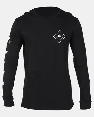 Quiksilver Square Sweller Long Sleeve T-Shirt Black