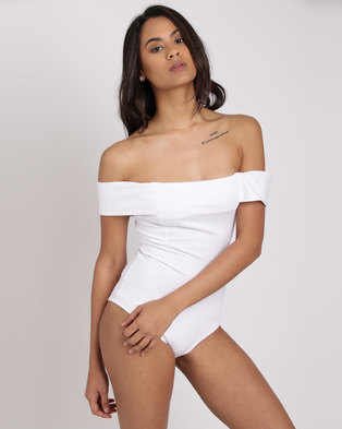 Paige Smith Bandeau Bodysuit White