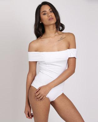 Paige Smith Bandeau Bodysuit White
