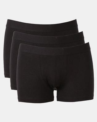 New Look 3 Pack Trunks Black