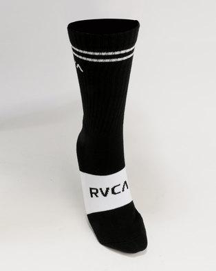 RVCA Basic Block Socks Black/White